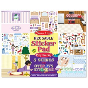 หนังสือสติ๊กเกอร์ Melissa & Doug Play House! Reusable Sticker Pad