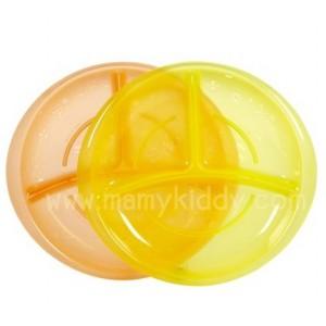 จานอาหารมีช่องแบ่ง Nuby Embossed Section Plate (BPA Free)