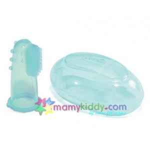 แปรงสีฟันซิลิโคนสำหรับทารกพร้อมกล่องเก็บ