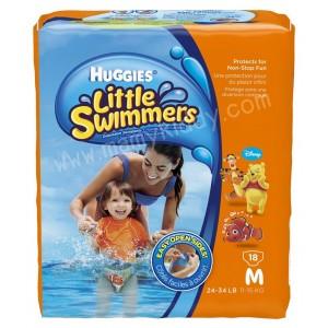 ผ้าอ้อมสำหรับว่ายน้ำ Huggies Little Swimmers ยกแพ็ค ไซส์ M - 18 ชิ้น