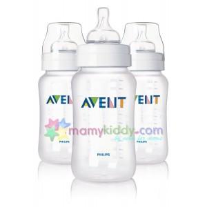 ขวดนม Avent 11 Oz (PP) BPA Free - แพคสาม
