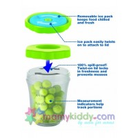 ถ้วยขนมพร้อมไอซ์แพค Nuk-Gerber - ชุดละ 3 ถ้วย (BPA Free)