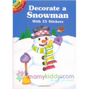 หนังสือสติ๊กเกอร์สำหรับเด็ก : Decorate a Snowman