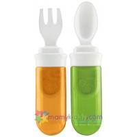 ช้อนทานอาหารพกพา FIsher Price สีส้ม-เขียว (BPA Free)