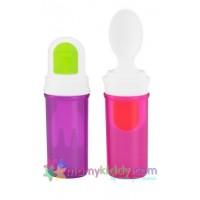 ช้อนทานอาหารพกพา Fisher Price สีชมพู-ม่วง (BPA Free)