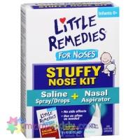 ชุดอุปกรณ์ดูดน้ำมูก และทำความสะอาดโพรงจมูกสำหรับทารก Little Remedies