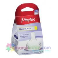 Playtex Drop-Ins Silicone Nipple Medium Flow - 2 pack