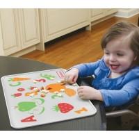 แผ่นซิลิโคนรองทานอาหารสำหรับเด็ก Nuk-Gerber ABC