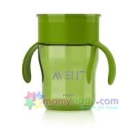 ถ้วยหัดดื่ม Avent สำหรับเด็กโต (สีเขียว)