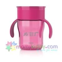ถ้วยหัดดื่ม Avent สำหรับเด็กโต (สีชมพู)