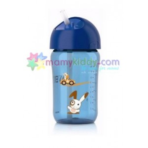 ถ้วยหัดดื่ม Avent 12 Oz พร้อมหลอดดูด (BPA Free)