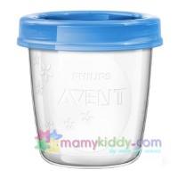 ถ้วยเวียสำหรับเก็บน้ำนม Avent (รุ่นใหม่) - แพค 10 ใบ