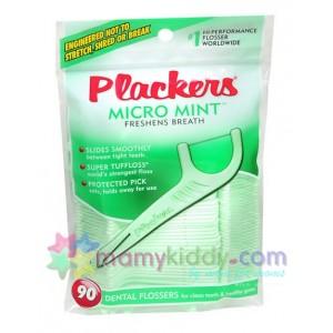 ไหมขัดฟันพร้อมใช้สำหรับเส้นเล็กพิเศษ Plackers รสมิ้นท์