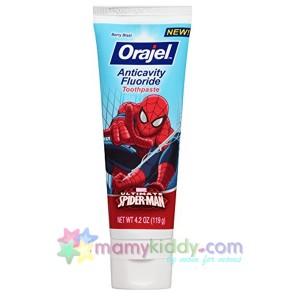 ยาสีฟันผสมฟลูออไรด์สำหรับเด็ก Orajel Spider-Man - Berry Blast