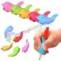 ยางหัดจับดินสอ - รูปปลาสีทึบ แพคคละสี 5 ชิ้น