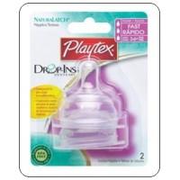 จุกนมซิลิโคน Playtex Drop-Ins จุกไหลเร็ว - แพค 2 ชิ้น