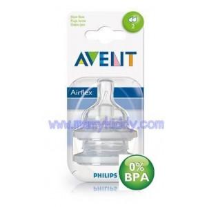 จุกนม Avent 2 รู (BPA Free) - 1 เดือนขึ้นไป