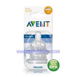 จุกนม Avent 4 รู (BPA Free) - 6 เดือนขึ้นไป