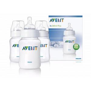ขวดนม Avent 9 Oz (BPA Free) ชนิด PP แพคสาม