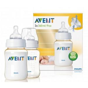 ขวดนม Avent 9Oz (PES) BPA Free - แพคคู่