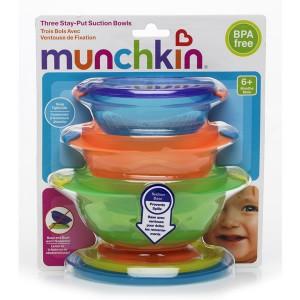 ชามก้นดูด Munchkin แพค 3 (BPA Free)
